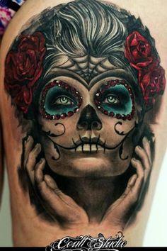 Sugar Skull Gypsy Tattoo | Uploaded to Pinterest