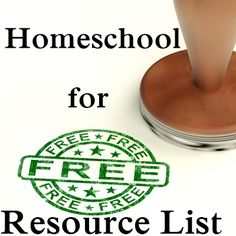 Every Bed of Roses: Homeschool for FREE {Resource List} Long list of links to FREE resources to help you homeschool