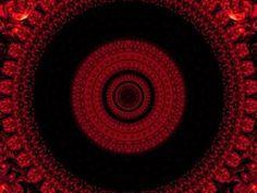 Mandala of Red Dragon Beads