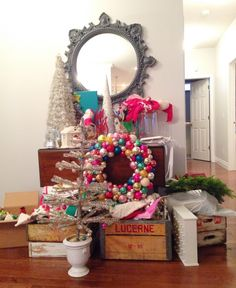 Vintage decorations grouping