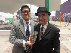 """Postal con el gran Sixto Valencia, caricaturista muy famoso en México, creador de la tira cómica """"Memin Pinguin"""". Dos años antes de su fallecimiento / #viajes #travel #viajesmuseo #traveller #travelling #vacation #placestovisit #trips #MeminPinguin"""