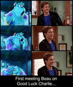 first meeting Beau from good luck charlie - made for me by a bestie! <3