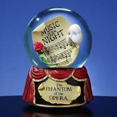 "Our Phantom of the Opera water globe that plays ""Music of the Night""!"
