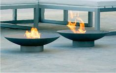 Stainless steel Brasero Fire Pit from Italian company Gandia Blasco