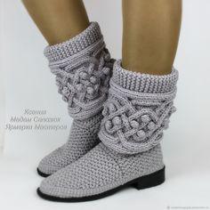 Купить Сапожки женские весна осень - серый, обувь ручной работы, обувь на заказ
