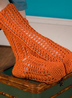 Durango Crochet Socks. These would make great thigh highs or knee highs