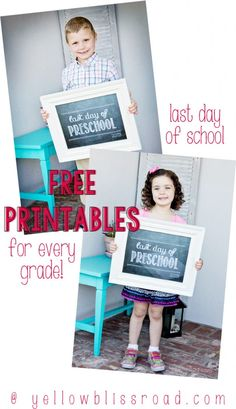 Free Printable Last Day of School Chalkboards