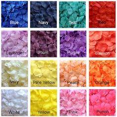 Silk Rose Petals 100 Colors Mix & Match Rose Petals   Etsy Aisle Runner Wedding, Wedding Aisle Decorations, Aisle Runners, Fake Rose Petals, Flower Petals, Blue Dresses For Women, Blue Tips, Monochrome Color, Baby Shower