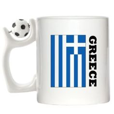 Greece FLAG Design Spinning Football Mug available at http://www.world-cup-products-worldwide.com/greece-flag-design-spinning-football-mug/