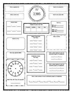 3rd grade morning work (common core ELA and Math
