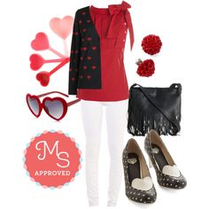 Nothing But Love Cardigan by modcloth on Polyvore featuring T.U.K. and Jeffrey Campbell