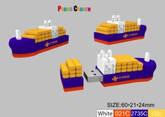 cargo container ship USB drive custom molded shape power banks and custom shaped flash drives usb sticks are perfect to promote and market your business