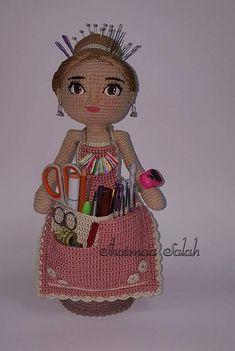 Crochet Doll Clothes, Crochet Dolls, Crochet Baby, Free Crochet, Knit Crochet, Doll Amigurumi Free Pattern, Cute Dolls, Loom Knitting, Pin Cushions