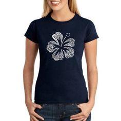 Los Angeles Pop Art Juniors Mahalo Word Art T-Shirt, Size: XS, Blue