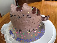 """Pusheen"" Confetti Cat Birthday by The Cake Mom, via Flickr"