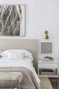 Neutral and modern bedroom design | Sissy and Marley