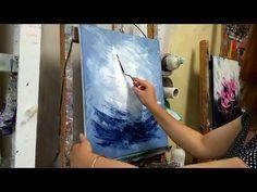 Cours de peinture au couteau (tuto facile) Les Voiliers Painting course with a knife (easy tu Abstract Painting Techniques, Acrylic Painting Tutorials, Painting Videos, Art Techniques, Abstract Art, Drawing Lessons, Painting Lessons, Art Lessons, Painting Courses