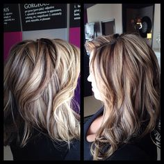 This people is what adding a darker color does to blonde hair...GIVES DIMENSION and MOVEMENT! Beautiful color!