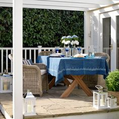 Outdoor dining area...from   housetohome.co.uk