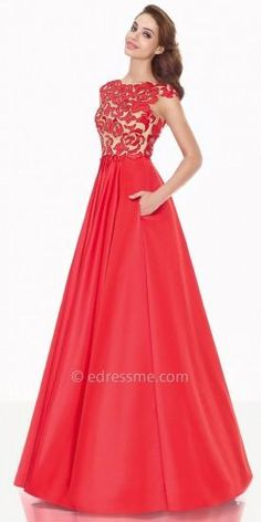 Rose Evening Dress by Tarik Ediz  #dress #dresses #fashion #designer #tarikediz #edressme