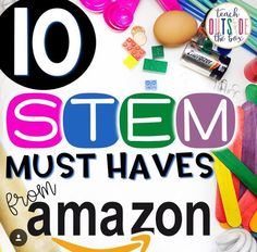 Top 10 Toys and Supplies for STEM Challenges and STEM Bins by Brooke Brown, Teach Outside the Box