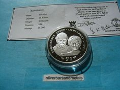 STAR TREK SPOCK & UHURA 999 SILVER $10 LIBERIA 1996 COIN VERY RARE COOL