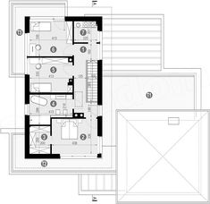 Projekt domu HomeKoncept-59 196,94 m2 - koszt budowy - EXTRADOM Modern House Plans, Floor Plans, How To Plan, Modern Home Plans, Floor Plan Drawing, House Floor Plans