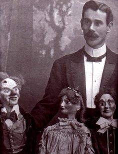 You know that scary as fuck clown dummy is just waiting for the right moment to strangle his owner with that handlebar mustache. | 19 Creepy Vintage Ventriloquist Dummies Who Are Totally Getting Ready To Kill Their Owners