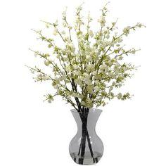 Cherry Blossoms With Vase   Artificial Flower Arrangement