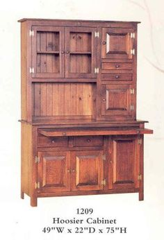 Hoosier cabinet made and stained by Amish Craftsmen in Pennsylvania.