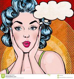 pop art cartoon woman - Google-søgning