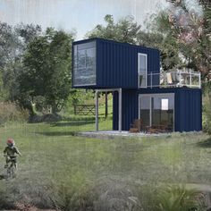 This independent product development provides three different variants of 30 – 45 m2 space. Whether as a small cottage on the lake, or as a modern example garden colony these modules are versatile. They could even be imagined as rental units in a recreational development where no permanent buildings are permitted. The units have a well-thought-out concept for space-efficient installation of kitchen and sanitary facilities