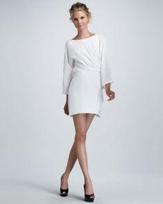 ShopStyle: Elizabeth and JamesJazlynn Chiffon Draped Dress