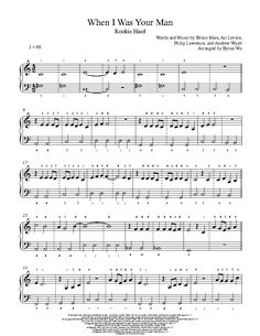 When I Was Your Man by Bruno Mars Piano Sheet Music | Rookie Level