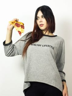 Healthy Lifestyle 1 Rave, Healthy Lifestyle, Punk, Candy, Pullover, Crop Tops, Sweaters, Women, Fashion