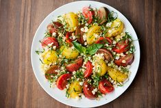 Made this for dinner tonite..super easy and super good - heirloom tomato and corn salad recipe | use real butter