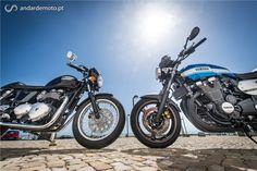 Triumph Thruxton X Yamaha XJR1300 - Um dia de passeio aos comandos de duas motos cheias de história. - Test drives - Andar de Moto