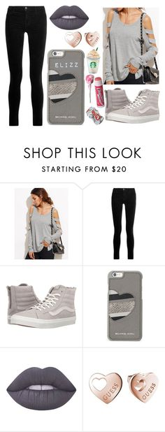"""""""Coke It Up"""" by elizz-denne ❤ liked on Polyvore featuring J Brand, Vans, Michael Kors, Lime Crime, GUESS and Chapstick"""