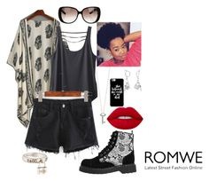 """""""Lock and Key to ROMWE"""" by ninbean2002 on Polyvore featuring Kavu, Roberto Coin, T.U.K., Lime Crime, Gucci, Tiffany & Co. and Bling Jewelry"""