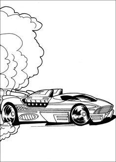 Tegninger til Farvelægning Hot Wheels 10
