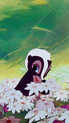 Flower from Bambi Disney Pixar, Arte Disney, Disney Animation, Disney And Dreamworks, Disney Cartoons, Disney Art, Images Disney, Disney Pictures, Cute Disney Wallpaper