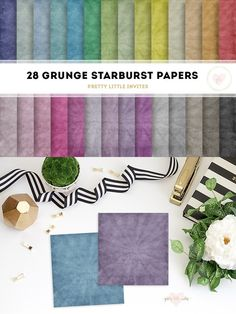 Grunge Starburst Digital Papers. Printables. $6.00