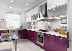 We are going to share your Kitchen Decoration ideas and you are welcome. Kitchen Modular, Smart Kitchen, New Kitchen, Kitchen Dining, Kitchen Decor, Kitchen Cabinets Models, Modern Kitchen Cabinets, Purple Kitchen, Kitchen Colors