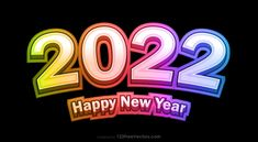 Free Happy New Year 2022 Colorful Background Vector Graphic