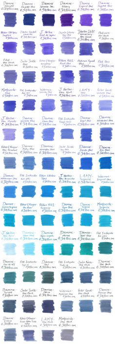 Blue Fountain Pen Ink Comparison - JetPens.com
