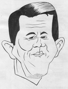 Fadzilah Kamsah karikatur caricature ink on paper  #caricature #art #artwork #drawing #ink #inkdrawing