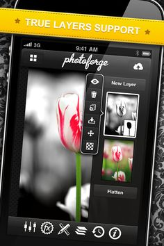 App Shopper: PhotoForge2 (Photography)  The best photo editing software for the iOS. Buy the PopCam! in-app purchase and it will truly be an amazing software. :)