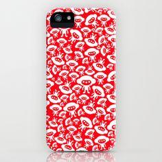 28 x 28 inch Alien action  iPhone Case by simonfoo - $35.00