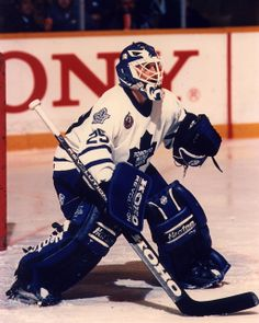Photo of former Toronto Maple Leafs goalie Felix Potvin. Goalie Gear, Goalie Mask, Hockey Goalie, Nhl Highlights, Maple Leafs Hockey, Olympic Games Sports, Ice Hockey Teams, Florida Panthers, Vancouver Canucks