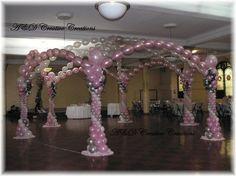 Reception, Pink, Ceremony, Decor, Gazebo, Balloons, Ad creative creations